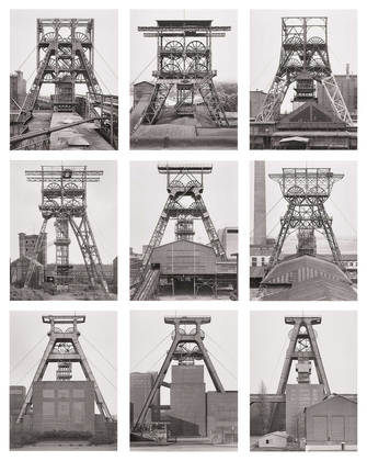 Bernd and Hilla Becher, Winding Towers, Belgium, 1971-91