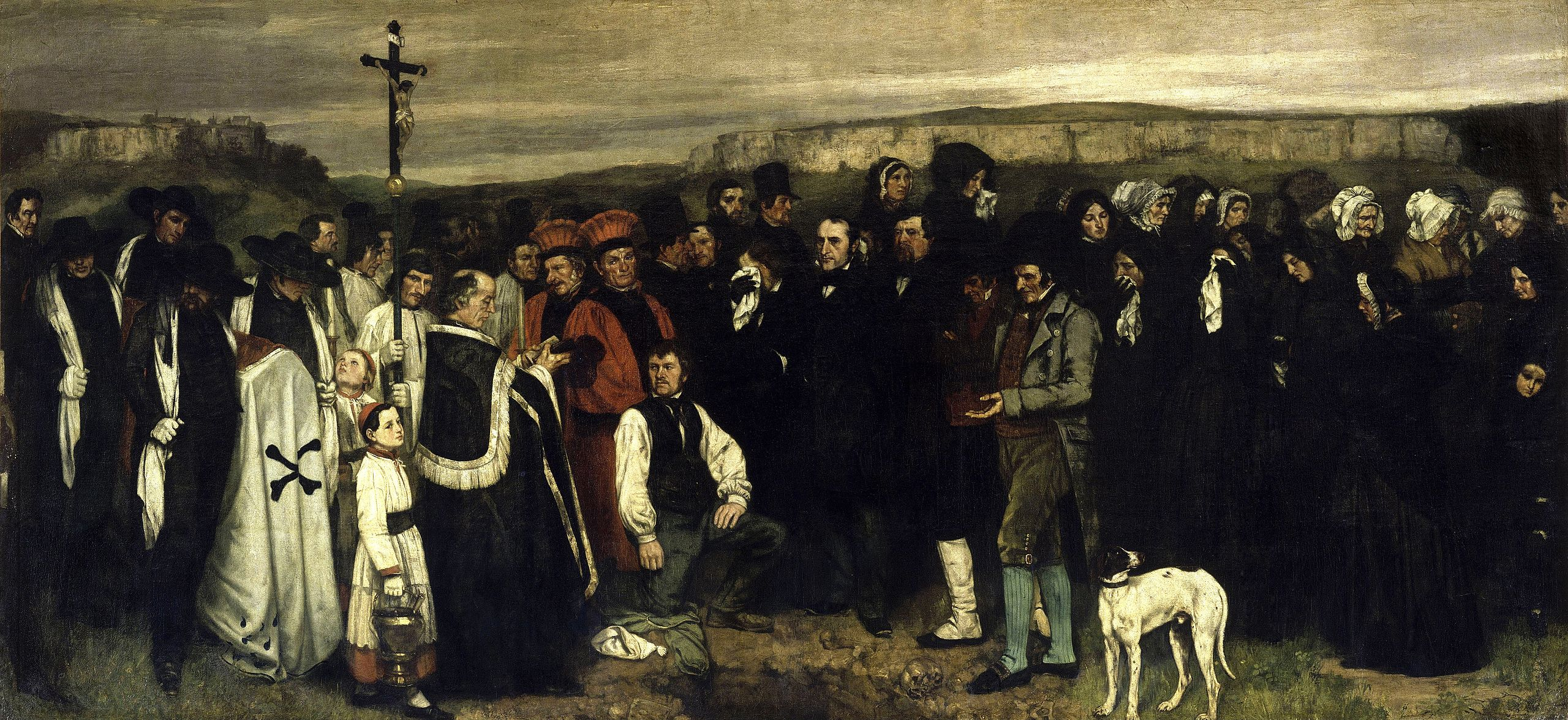 Courbet, Burial at Ornans, 1849-50