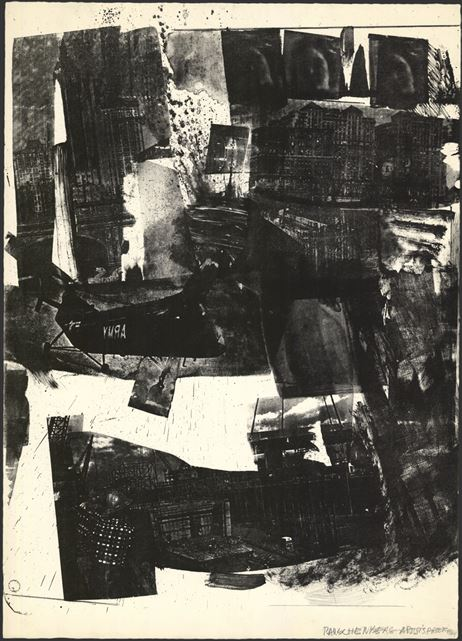 Robert Rauschenberg, Spot (1964). Lithograph, 37 ex. [104.7 x 75.3 cm]. The Museum of Modern Art, New York