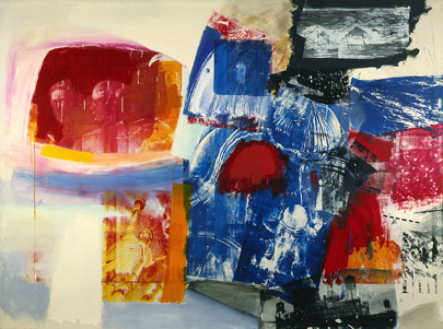 Robert Rauschenberg, Creek (1964). Silk screen and oil on canvas [182 .8 x 243.8 cm]. The Detroit Institute of Arts, Detroit